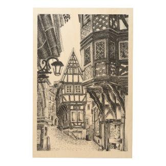 中世Townscape ウッドウォールアート