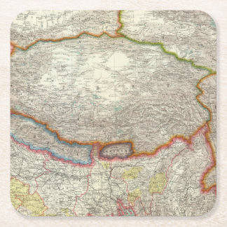 中国およびチベット スクエアペーパーコースター
