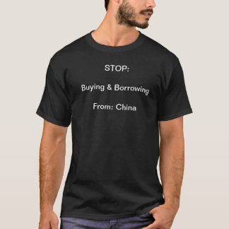中国からの停止購買そして借用 Tシャツ