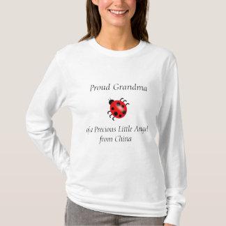 中国からの大切な天使の誇り高い祖母 Tシャツ