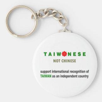 中国のではない台湾語 ベーシック丸型缶キーホルダー