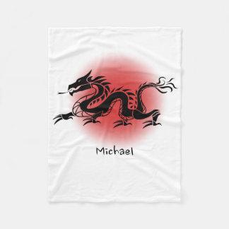 中国ので伝統的なドラゴンの名前 フリースブランケット