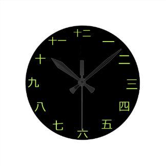 中国ので日本のな時計 ラウンド壁時計