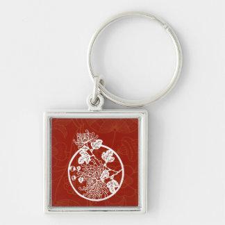中国ので赤い菊の栄光 キーホルダー