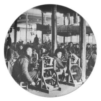 中国ので近いChihsien、c.1930 (b/w著経営される工場 プレート