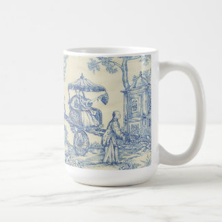 中国ので青いToile コーヒーマグカップ