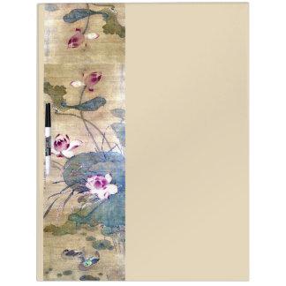 中国のなスクロール芸術のはすの花のホワイトボード ホワイトボード