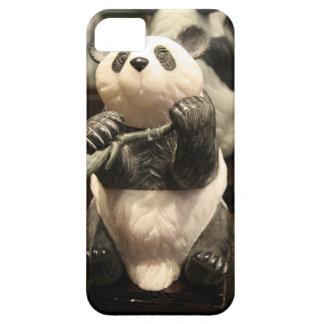 中国のなパンダの手によって切り分けられるヒスイの石の彫像 iPhone SE/5/5s ケース