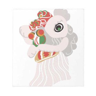中国のなライオン ノートパッド
