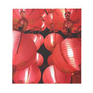 中国のなランタン ノートパッド