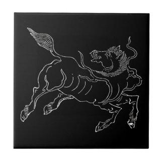 中国のな古代タツノオトシゴの白 タイル