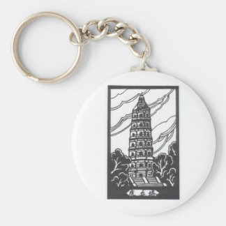 中国のな塔 キーホルダー