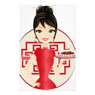中国のな女の子 便箋