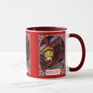 中国のな寺院のランタン マグカップ