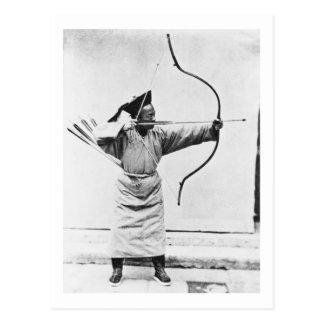 中国のな射手、c.1870 (b/wの写真) ポストカード