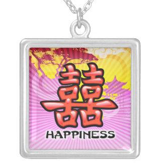 中国のな幸福の記号のネックレス シルバープレートネックレス