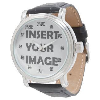 中国のな数キャラクター(黒いフォント) 腕時計