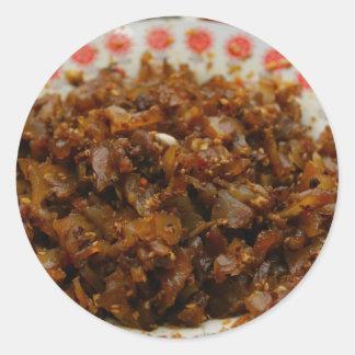 中国のな料理のステッカー-ビーフ腱 ラウンドシール
