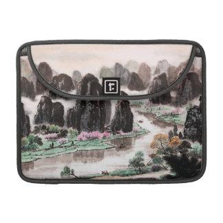 中国のな景色の水彩画の袖MacBookプロ13 MacBook Proスリーブ