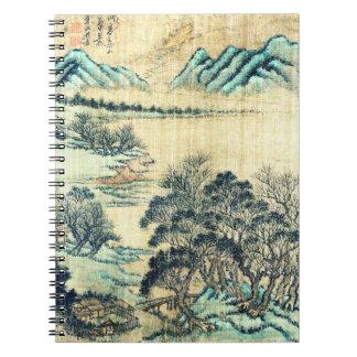 中国のな景色1730年 ノートブック