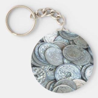 中国のな硬貨 キーホルダー