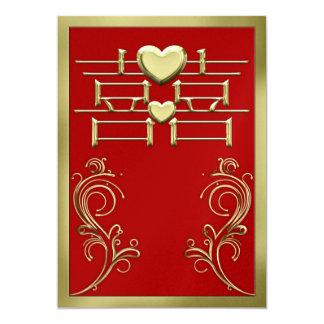 中国のな結婚式招待状カード 12.7 X 17.8 インビテーションカード