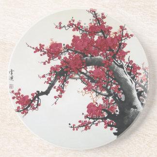 中国のな絵画-桜のコースター コースター
