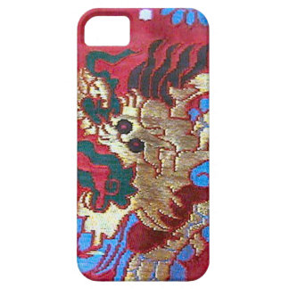 中国のな絹の刺繍、シンガポール iPhone SE/5/5s ケース