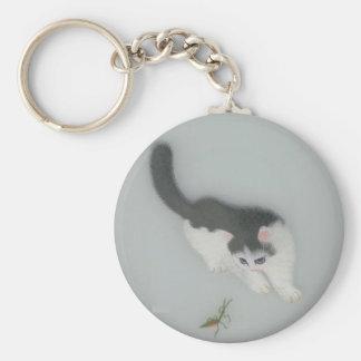 中国のな絹猫の写真 キーホルダー