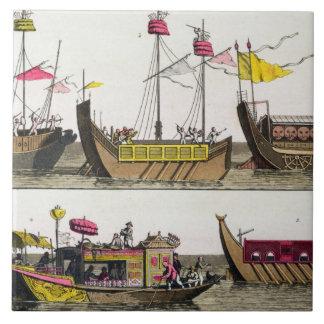 中国のな船、「Le Cからのイラストレーションの例 タイル