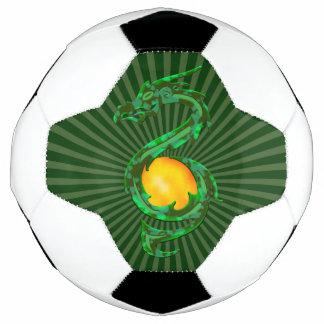 中国のな辰年のヒスイ緑 サッカーボール