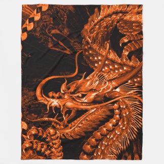 中国のな青銅色皇帝のドラゴンの芸術のフリースブランケット フリースブランケット
