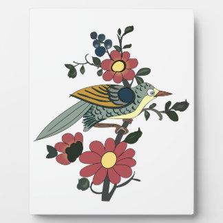 中国のな鳥および花 フォトプラーク