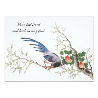 中国のな鳥の絵画 カード