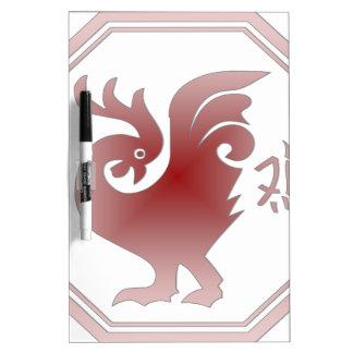 中国のな(占星術の)十二宮図のオンドリ ホワイトボード