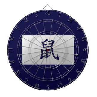 中国のな(占星術の)十二宮図の印のラットの青 ダーツボード