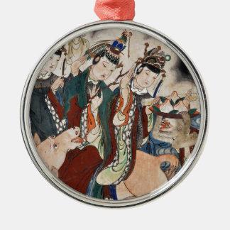 中国のな(占星術の)十二宮図の壁絵画のウシの姿 メタルオーナメント