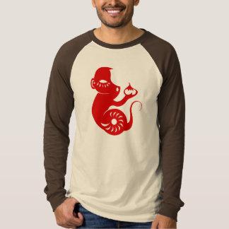 中国のな(占星術の)十二宮図PAPERCUT猿のイラストレーションのワイシャツ Tシャツ