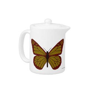 中国のな(昆虫)オオカバマダラ、モナークの茶ポット