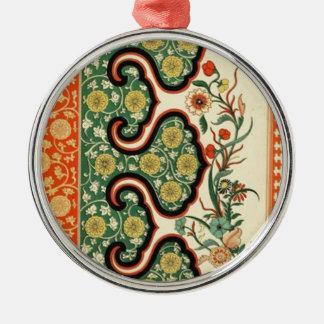 中国のなOrnamentalsの1867年のヴィンテージの芸術 シルバーカラー丸型オーナメント
