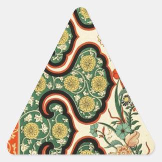 中国のなOrnamentalsの1867年のヴィンテージの芸術 三角形シール
