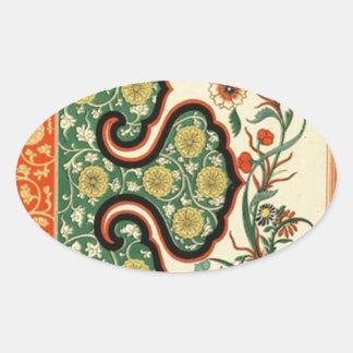 中国のなOrnamentalsの1867年のヴィンテージの芸術 楕円形シール