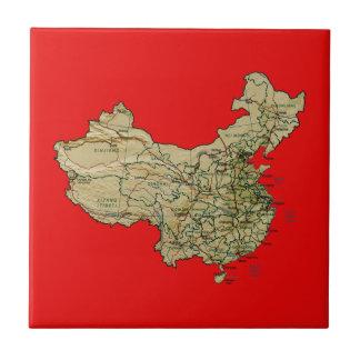 中国の地図のタイル タイル