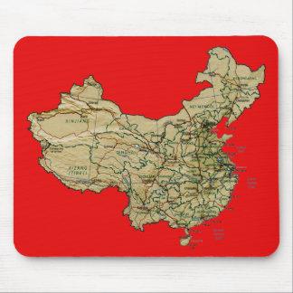 中国の地図のマウスパッド マウスパッド