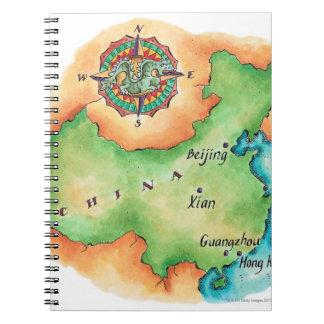 中国の地図 ノートブック