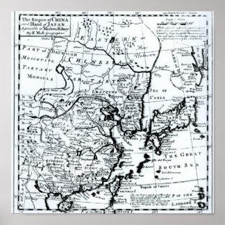中国の帝国および日本の島 ポスター