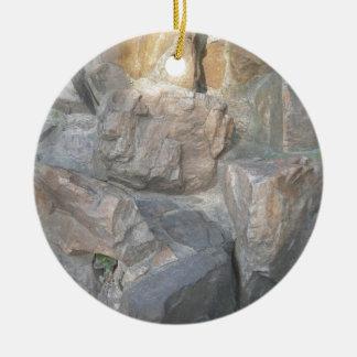 中国の庭の石 セラミックオーナメント