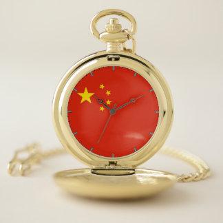 中国の愛国心が強い壊中時計の旗 ポケットウォッチ
