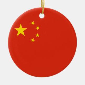 中国の旗のオーナメント セラミックオーナメント