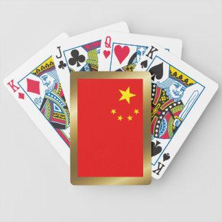 中国の旗のトランプ バイスクルトランプ